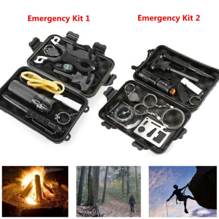 img-9 in 1 SOS Kit Outdoor Emergency Kit Equipment Box For Camping Survival Gear