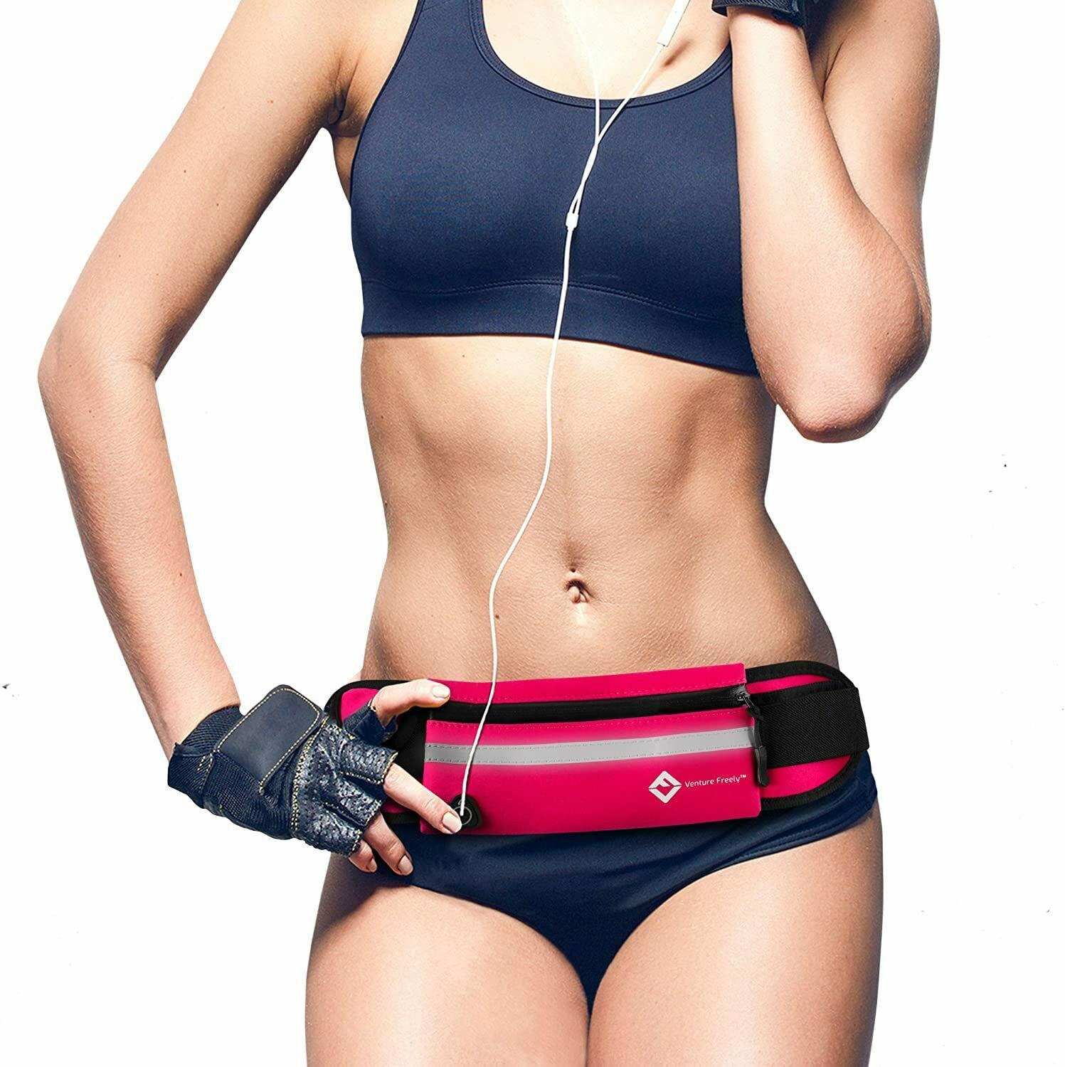 Running Belt Jogging Belt Cycling Fanny Pack Waist Bag Pouch Iphone Android Pink