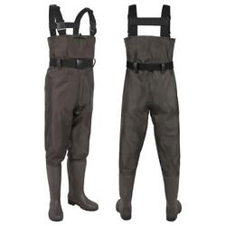 Kyпить Waterproof Hunting Fishing Waders Nylon PVC 2-Ply Cleated Bootfoot Chest Waders на еВаy.соm