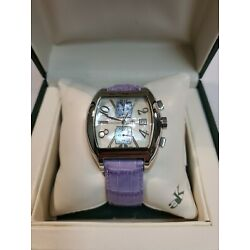 Women's Adee Kaye AK Sport Collection Chronograph Stainless Steel Watch RARE