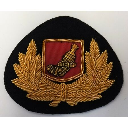 img-Genuine Oman Pilot Wire Braided Dress Cap Hat Badge With Oman Insignia ASPS47