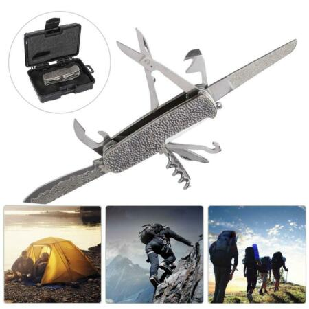 img-Portable Outdoor Folding Knife Survival Tool Mobile Phone Bracket Holder .