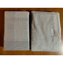 Ellen Degeneres Set of 2 Gray Euro Shams Embroidered Wavy Lines New No Package