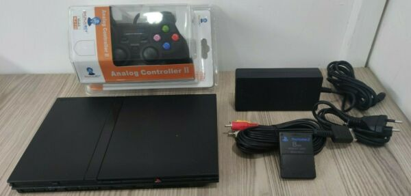 ps2 slim console play station controller memory 8mb  completa legge tutto