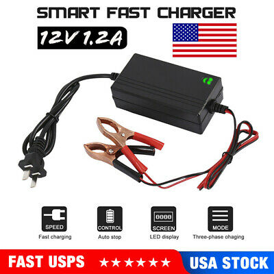 Car Battery Charger Maintainer Auto 12V Trickle RV for Truck Motorcycle ATV USA