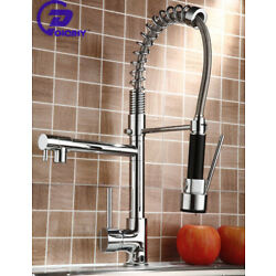 Kyпить Poiqihy Chrome Kitchen Faucet Swivel Single Handle Sink Pull Down Sprayer Mixer на еВаy.соm