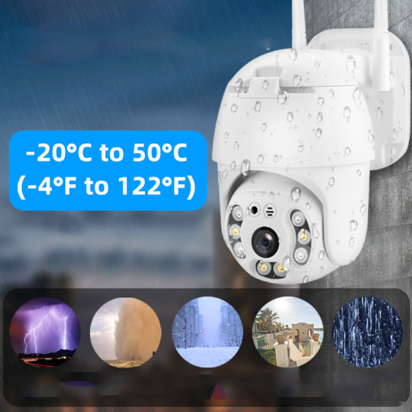 TELECAMERA PTZ 1080P FULL HD ESTERNA IP CAMERA MOTORIZZATA IR WIFI WEBCAM iCSee