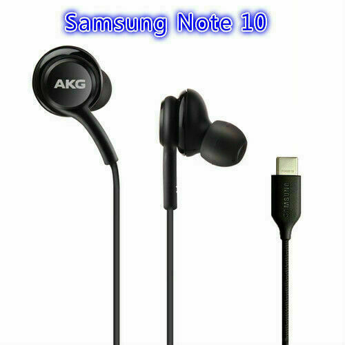 SAMSUNG GALAXY NOTE 10/10+ AKG GENUINE EARPHONES HEADPHONES USB TYPE C BLACK UK