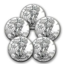 Kyпить 2020 1 oz American Silver Eagle BU - Lot of 5 Coins $1 US Mint Silver на еВаy.соm