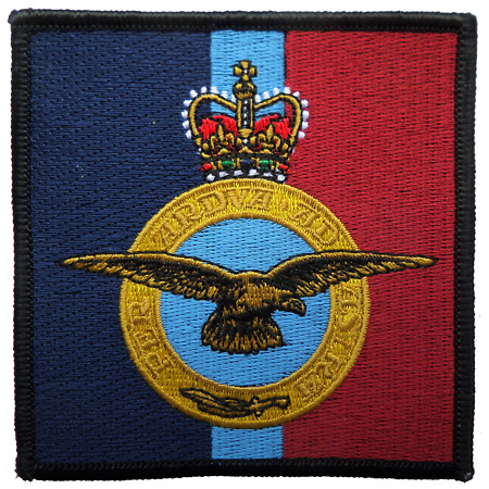img-Royal Air Force RAF Insignia Crest MOD Square Embroidered Patch