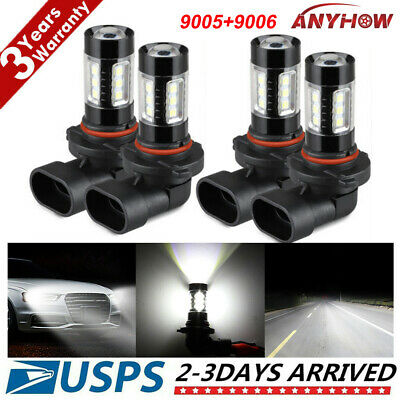 Combo 9005 9006 LED High-Low Beam Headlight 240W 32000LM Fog lights 6000K White