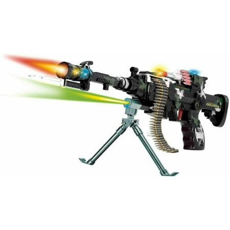 img-Combat 3 Army Commando Machine Gun Pistol With Lights And Sounds Kids Toy L&H!!