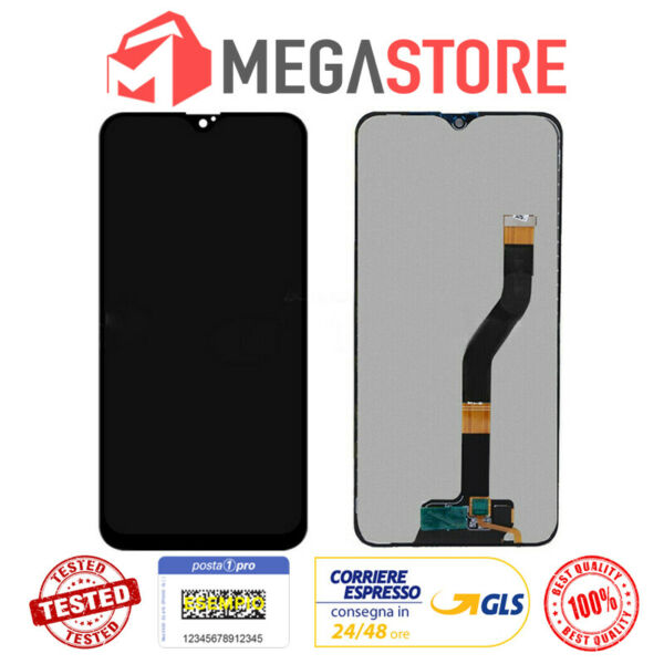 DISPLAY LCD TOUCH SCREEN PER SAMSUNG GALAXY A10 2019 A107F M10 M105 NERO SCHERMO
