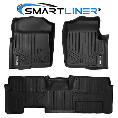 SMARTLINER Floor Mats For 11-14 Ford F-150 SuperCab (W/ Non-Flow Console)