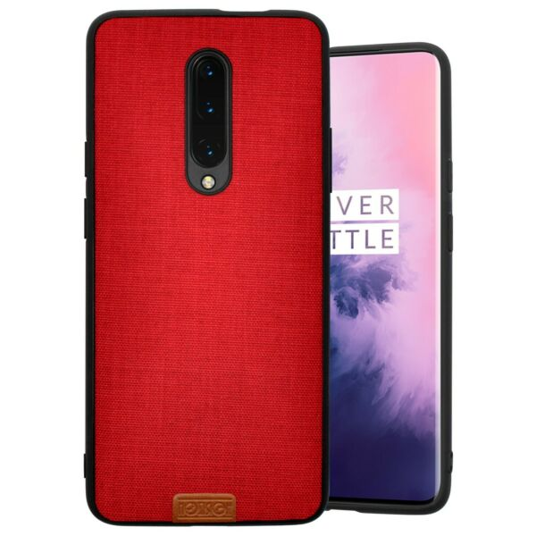 ItalieONEPLUS 7 PRO COVER Mode NOZIROH Jeans 360 bumper frame  Denim Rouge