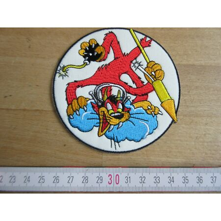 img-US Army WWII Usmc VMF-321 Hellcat Marines Fighting Bobcat Flight Jacket Patch