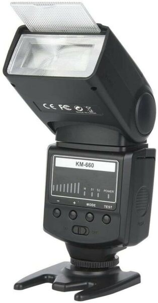 Flash Fotocamera, KM-660 5800K 5800K Speedlite Flash Wireless con Luce di...