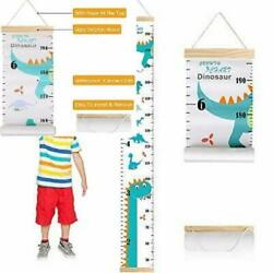 Growth Chart for Kids Boys Girls Baby Canvas Height Removable Wood...