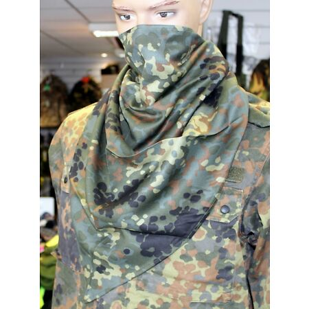 img-GERMAN ARMY STYLE TRIANGULAR SCARF / FACE COVER in FLECKTARN CAMO