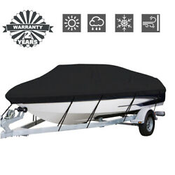Kyпить Waterproof Heavy Duty Fabric Boat Cover Trailerable Fishing Ski V-Hull Runabout на еВаy.соm