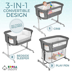 Kyпить 3 in 1 Baby Bassinet, Bedside Sleeper, Playpen Easy Folding Portable Lightweight на еВаy.соm