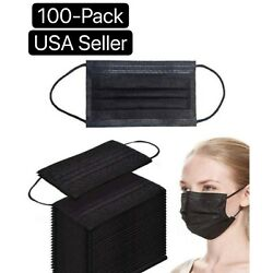 Kyпить 50/100 PCS Black Face Mask Mouth & Nose Protector Respirator Masks USA Seller на еВаy.соm