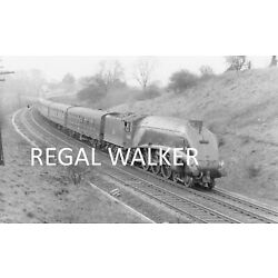 BRITISH RAIL RAILWAY STEAM PHOTO 1960'S-A4 60026 ''MILES BEEVER'' AT AYCLIFFE 1963