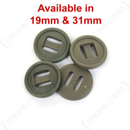 img-Original British Army Issue Style 19mm Nylon Slotted Soldier 95 Parka Buttons