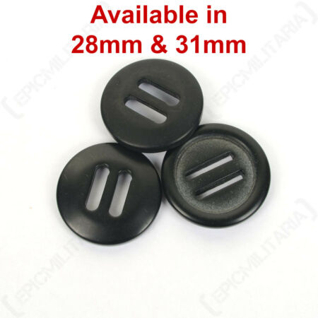 img-Original British Army Issue Style 31mm Nylon Slotted Soldier 95 Parka Buttons
