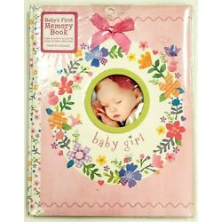 Kyпить Baby Girl's First Memory Book 5 Year Stepping Stones Flower Wreath Pink 48 Pages на еВаy.соm