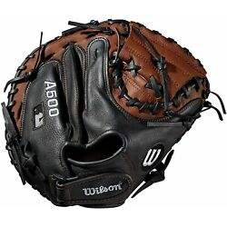 Kyпить Wilson A500 Youth Leather Right Hand Throw Catchers Baseball Mitt Glove 32