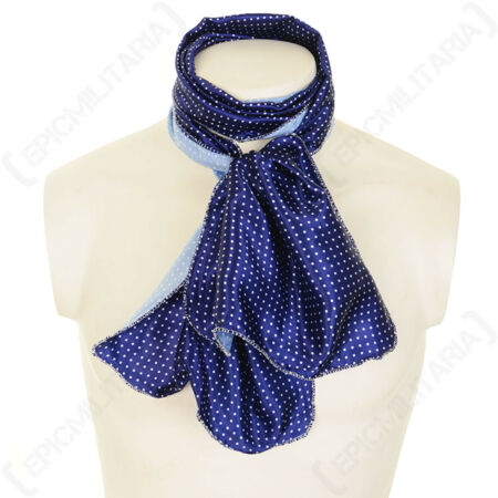 img-British WW2 Military Airline Silk Blend Pilots Flying Scarf - Blue