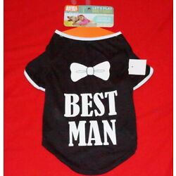 Animal Planet Best Man Dog's T- Shirt Size L Cute & Comfortable $15.- NWT Free/S