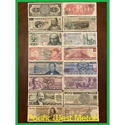 Kyпить LOT 8 MEXICO PESO BANKNOTES SERIES 1,5,10,20,50,100,500,1000 BDM MEXICO BILLS на еВаy.соm