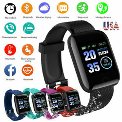 Kyпить Smart Watch Bluetooth Heart Rate Oxygen Blood Pressure Sport Fitness Tracker US на еВаy.соm