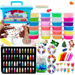 Kyпить 110PCS DIY Slime Kit Xmas Gift for Girls Boys Glitter Slime Making Arts Craft на еВаy.соm