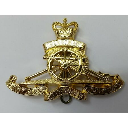 img-Genuine British Army Issue Royal Artillery R.A Insignia Pin Gilt Badge- NEW RA27