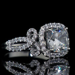 Kyпить Engagement Wedding Classic Expensive Halo Ring14K White Gold 3Ct Cushion Diamond на еВаy.соm