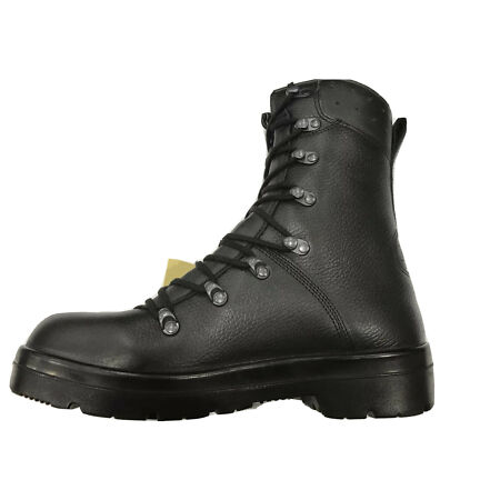 img-German Army Para Boots Genuine Military Surplus Combat Leather Black *New*