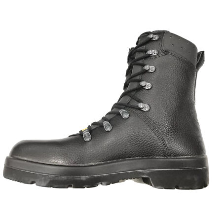 img-German Army Para Boots Genuine Military Surplus Combat Leather Black *Nearly New