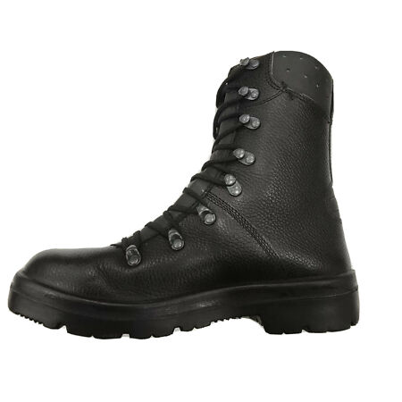 img-German Army Para Boots Genuine Military Combat Leather Black *Superior Grade*