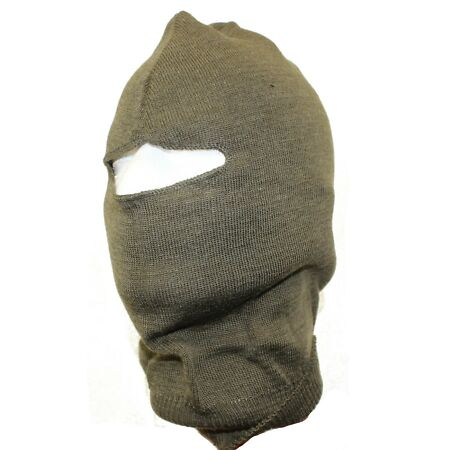 img-GENUINE CZECH ARMY BALACLAVA in OLIVE GREEN UNISSUED