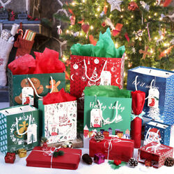 Kyпить 28pcs Christmas Kraft Gift Bags Set Christmas Prints Bags with 24 Tissue Papers на еВаy.соm