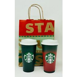 Kyпить Starbucks Christmas 2020 Color Changing Green To Red Hot Reusable (1) Cup 16oz.  на еВаy.соm
