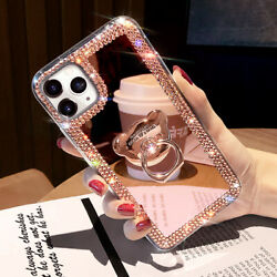 Kyпить For iPhone 12 Pro Max 11 XS XR 6 7 8 Glitter Bling  Mirror Diamond Case w/ Ring на еВаy.соm