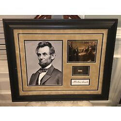 Kyпить ABRAHAM LINCOLN AUTHENTIC ORIGINAL SIGNED DOCUMENT C 1839 W/ COA (JSA Z80494) на еВаy.соm