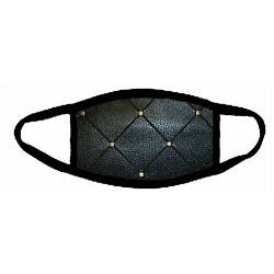 FABRIC BLACK LEATHER LOOK  Mask kids & adults