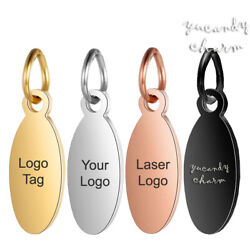 Kyпить 50pcs Personalized Laser Custom Logo Jewelry Tags Oval Charms White Rose Gold на еВаy.соm