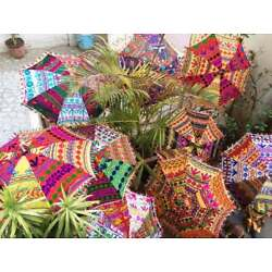 Kyпить Decorative Indian-Hand Embroidered Parasol 3-Pc Assorted Sun Shade Umbrellas на еВаy.соm