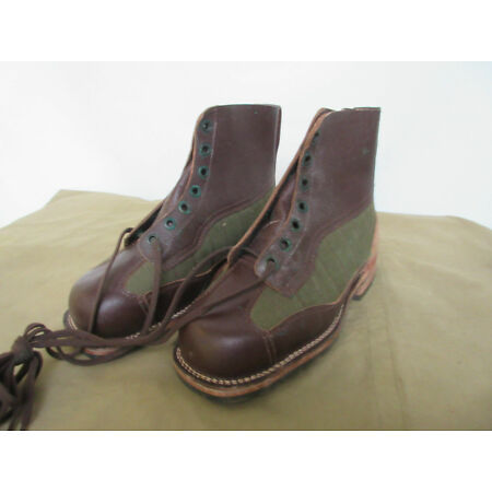 img-Army Service Boots Lace-Up True Vintage Leather Boots Original Heritage 43